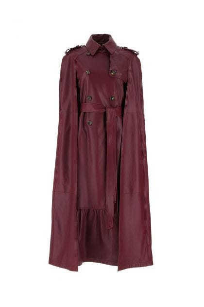 Grape leather trench
