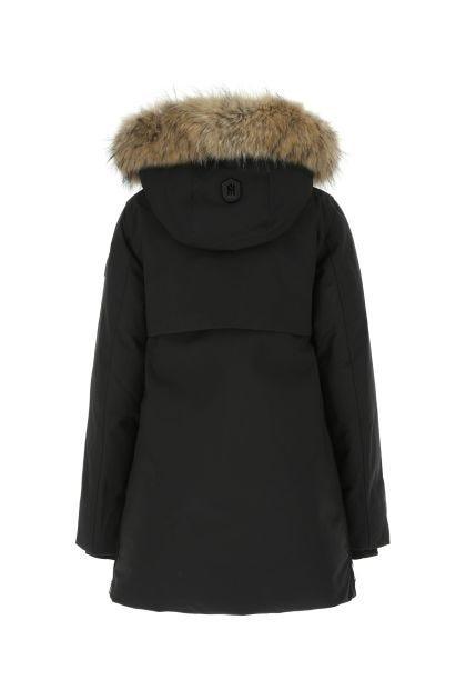 Black nylon blend Kinslee down jacket