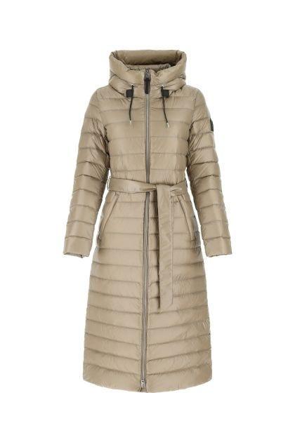 Dove grey nylon Portia down jacket