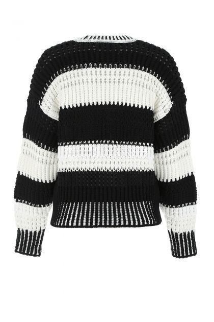 Two-tone nylon blend sweater