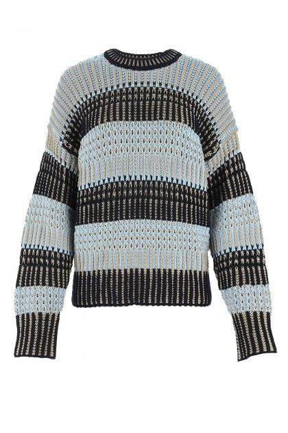 Multicolor nylon blend oversize sweater