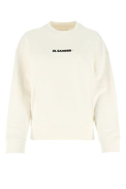 White cotton oversize sweatshirt