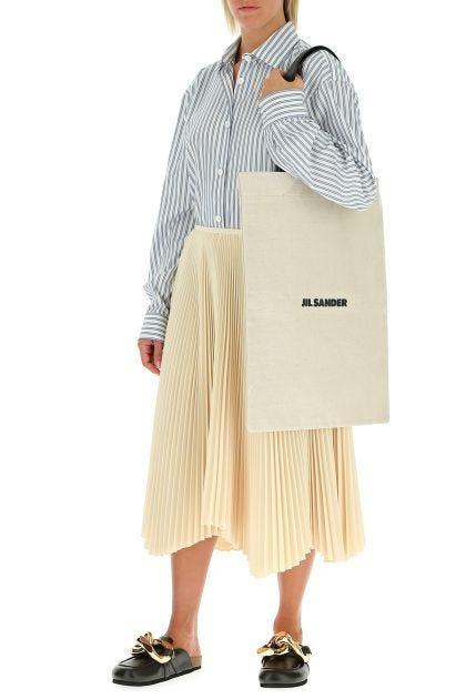 Cream gabardine skirt