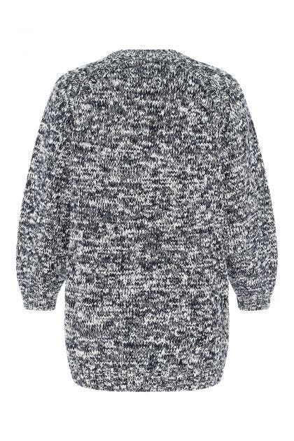 Two-tone cotton blend sweater dress