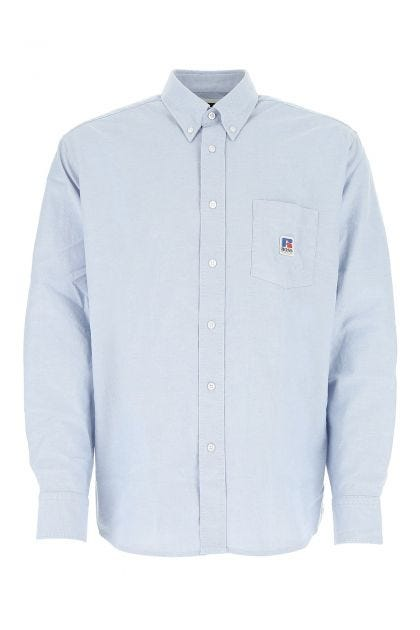Powder blue cotton oversize shirt