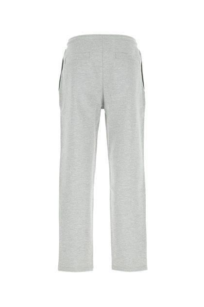 Melange grey stretch viscose blend joggers