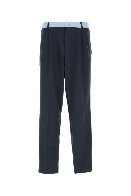 Two-tone stretch viscose blend pant