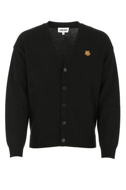 Black wool oversize cardigan