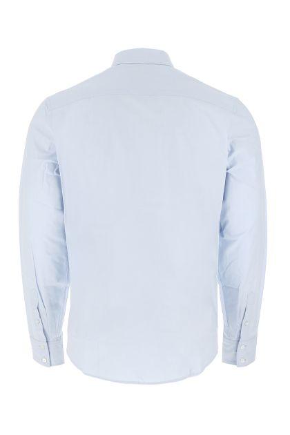 Pastel light blue popeline shirt