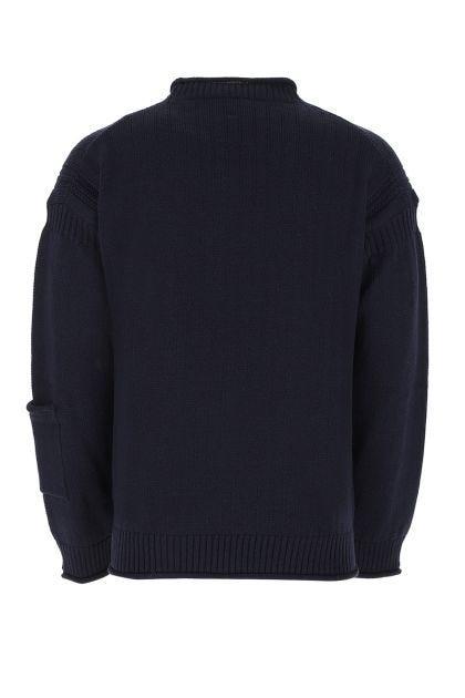 Navy blue wool sweater