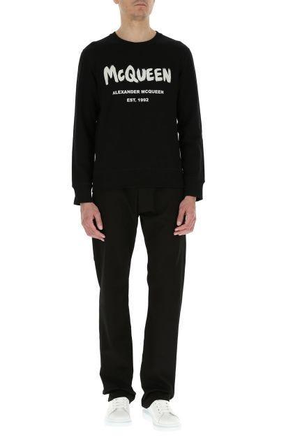 Black stretch cotton sweatshirt