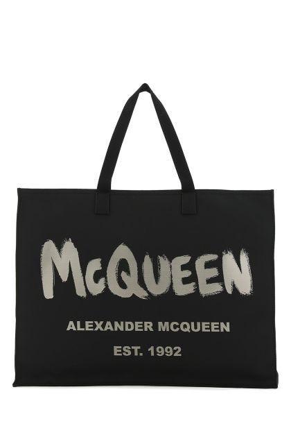 Black nylon Graffiti East West shopping bag