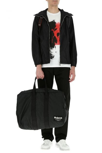 Black fabric travel bag