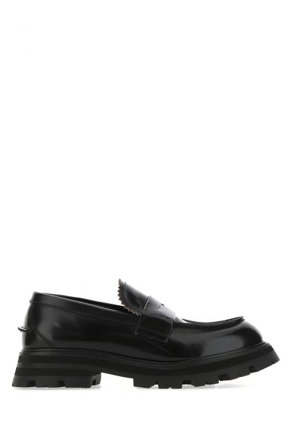 Black leather Worker loafers