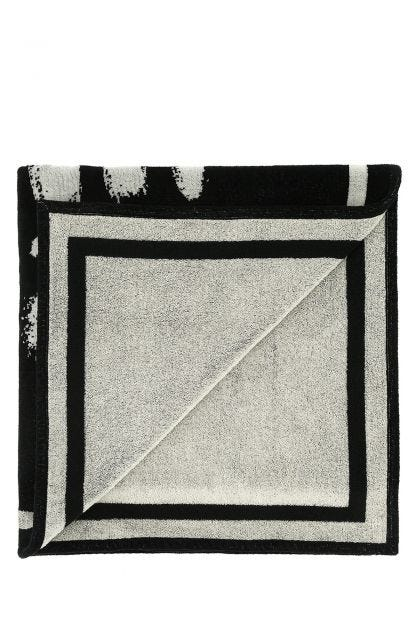 Black cotton beach towel