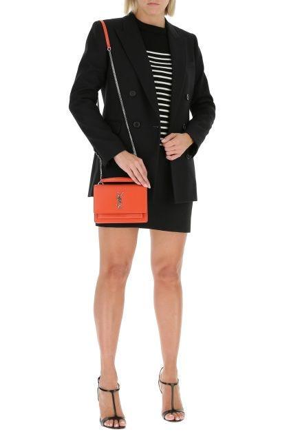 Black wool oversize blazer