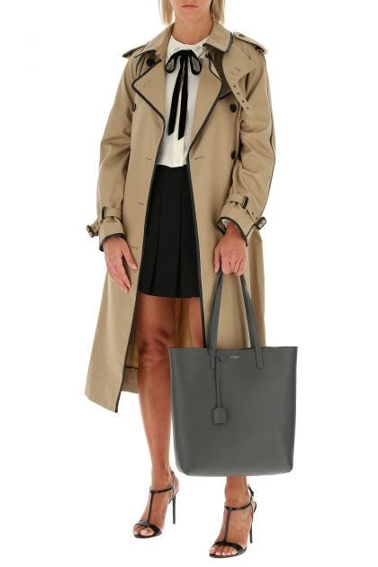 Biscuit polyester blend trench