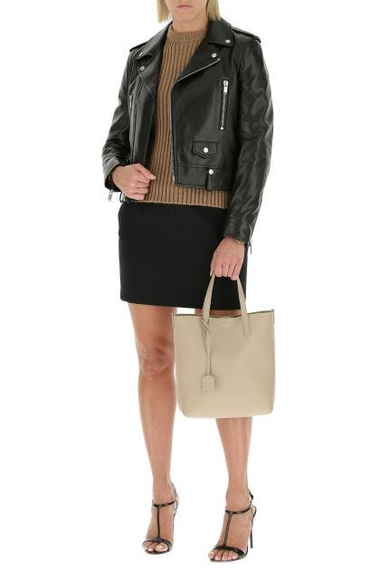 Cappuccino toy leather shopping bag