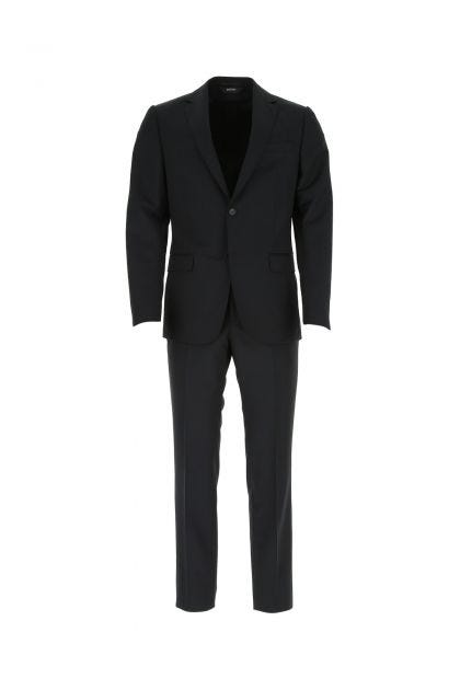 Black wool blend suit