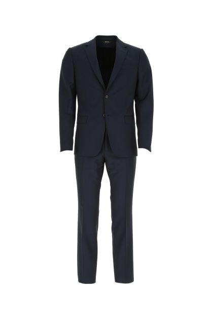 Dark blue wool blend suit