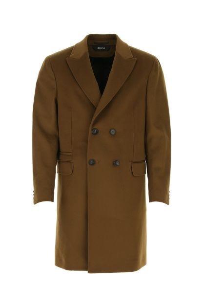 Brown wool blend coat