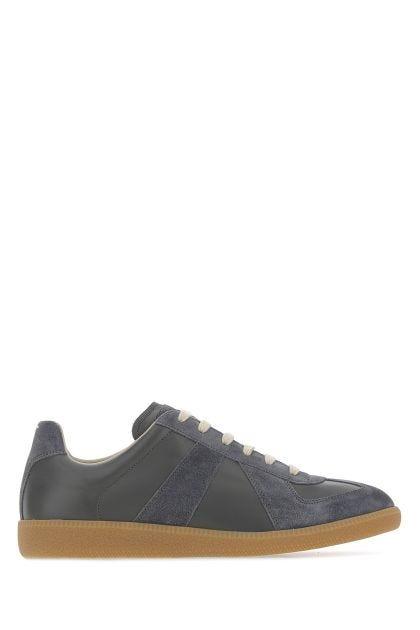 Graphite leather Replica sneakers