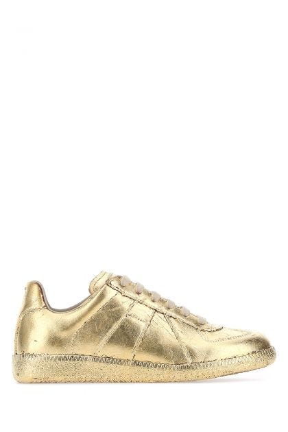 Gold leather Replica sneakers