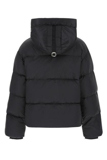Black nylon blend Anya down jacket