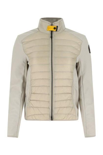 Sand nylon and stretch polyester Olivia jacket