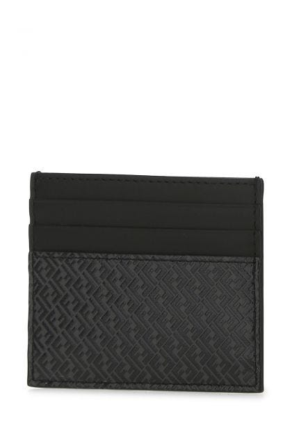 Printed leather card holder