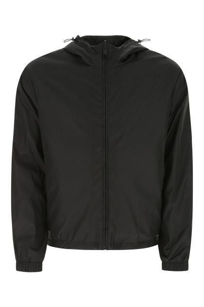 Black polyester reversibile k-way