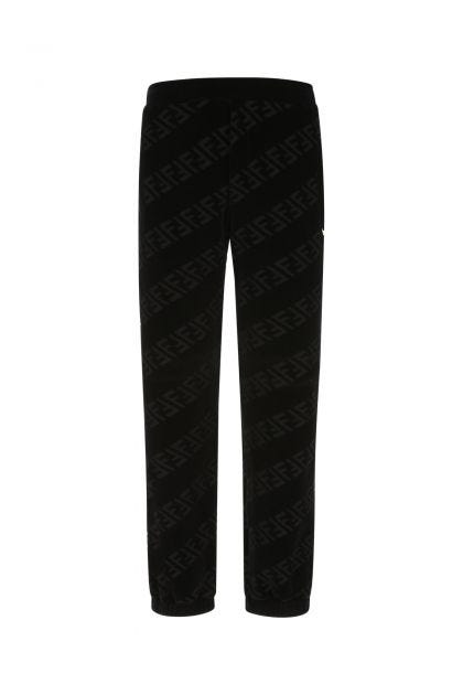 Black terry fabric joggers