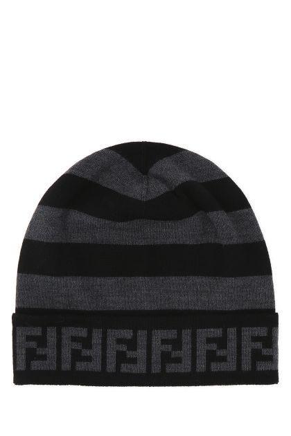 Two-tone wool beanie hat
