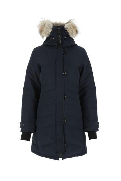 Midnight blue polyester blend Lorette down jacket
