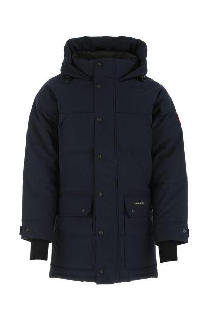 Midnight blue polyester blend Emori down jacket