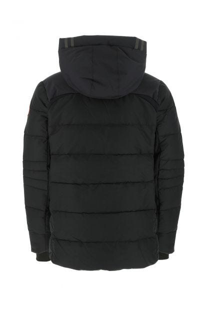 Black nylon Hybridge down jacket