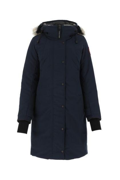 Midnight blue polyester blend Sherbrooke down jacket