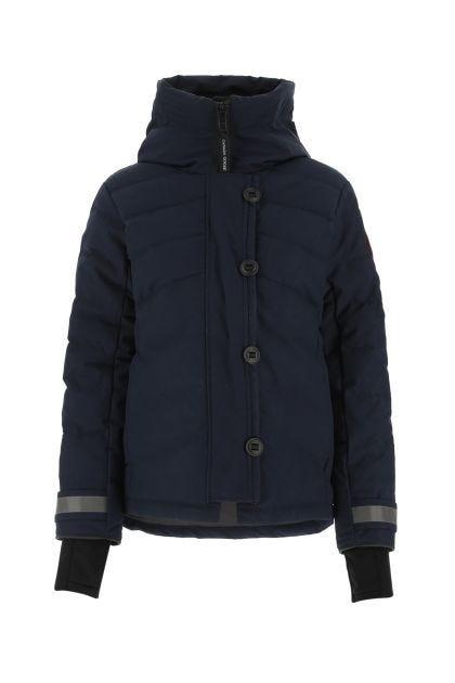 Midnight blue polyester blend Helmvale down jacket