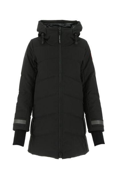 Black polyester blend Merritt down jacket