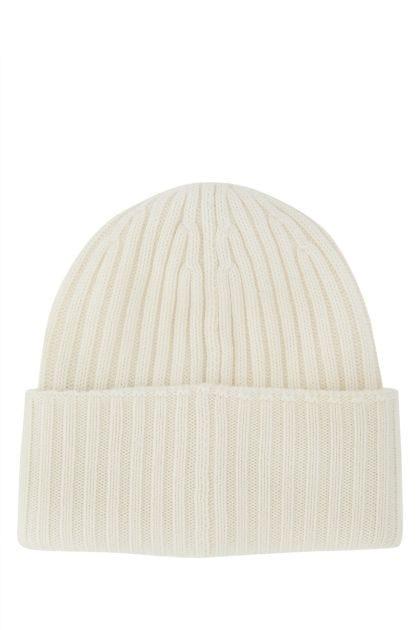 Ivory wool beanie hat