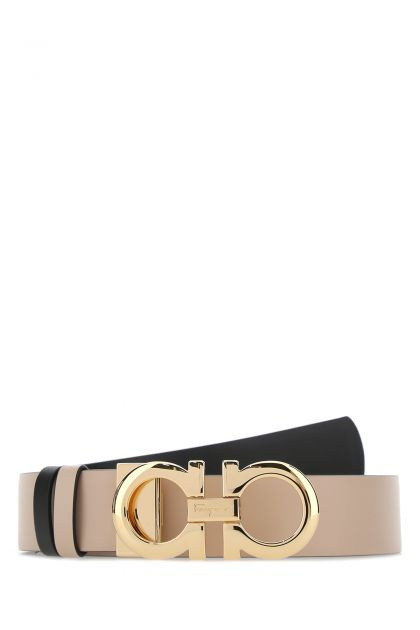 Cappuccino leather reversible belt