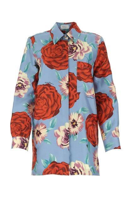 Printed silk shirt