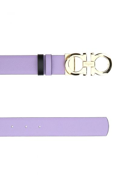 Lilac leather reversible belt