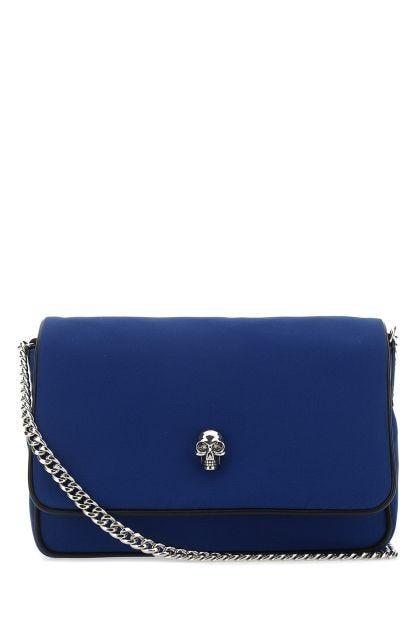Blue fabric small Skull crossbody bag