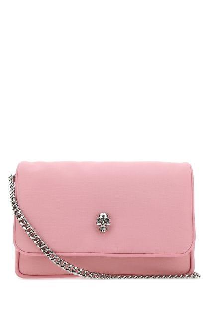 Pink nylon small Skull shoulder bag