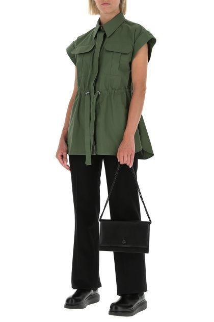 Army green cotton shirt