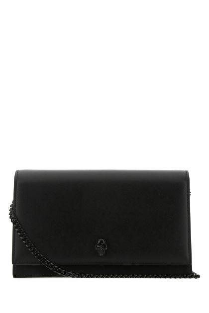 Black leather Skull crossbody bag