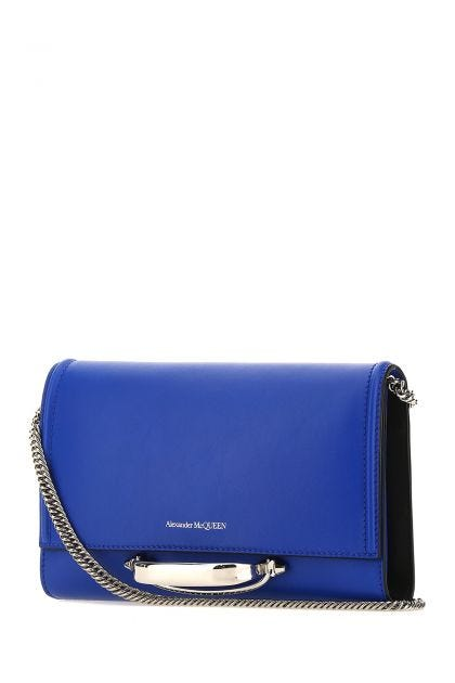 Electric blue leather small The Story clutch