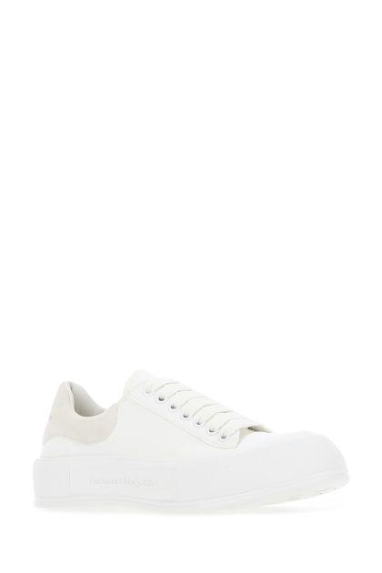 White cotton Skate sneakers