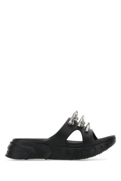 Black rubber Marshmallow slippers